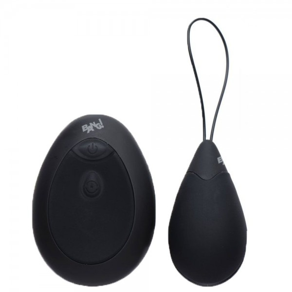 10X Silicone Vibrating Egg Black