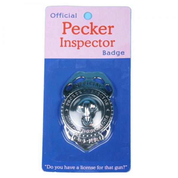 Official Pecker Inspector Badge
